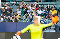 CARSON, CA - JUNE 19: Los Angeles Galaxy fans during a game between Seattle Sounders FC and Los Angeles Galaxy at Dignity Health Sports Park on June 19, 2021 in Carson, California.