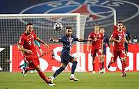 23rd August 2020, Estádio da Luz, Lison, Portugal; UEFA Champions League final, Paris St Germain versus Bayern Munich;  Neymarof PSG clips the ball ahead
