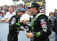 18-20 March 2011, Chandler, Arizona, USA Rick Huseman (right), Johnny Greaves, winner, celebration, Toyota Tundra ©2011, Mark J. Rebilas