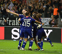 Saki Kumagai (4) of Japan celebrates the win with her teammates after  the final of the FIFA Women's World Cup at FIFA Women's World Cup Stadium in Frankfurt Germany.  Japan won the FIFA Women's World Cup on penalty kicks after tying the United States, 2-2, in extra time.