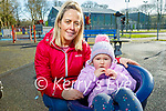 Enjoying the playground in the Listowel town park on Thursday, l to r: Little Neasa and Siobhan Carmody.