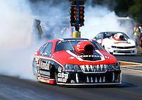Aug. 17, 2013; Brainerd, MN, USA: NHRA pro stock driver V. Gaines during qualifying for the Lucas Oil Nationals at Brainerd International Raceway. Mandatory Credit: Mark J. Rebilas-