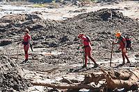 BRUMADINHO, MG, 01.02.2019: ROMPIMENTO DA BARRAGEM EM BRUMADINHO. Bombeiros buscam por corpos proximo ao viaduto da linha ferrea da Mineradora Vale, em Corrego do Feijao-Brumadinho, região metropolina de Belo Horizonte, MG, na manhã desta sexta feira (01) (foto Giazi Cavalcante/Codigo19)