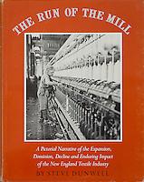 The Run of the Mill, book cover, Godine Press, 1978