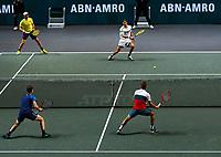Rotterdam, The Netherlands, 14 Februari 2020, ABNAMRO World Tennis Tournament, Ahoy, Doubles: Henri Kotinen (FIN) and Jan-Lennard Struff (GER), Jamie Murray (GBR) and Neal Skupski (GBR).<br /> Photo: www.tennisimages.com