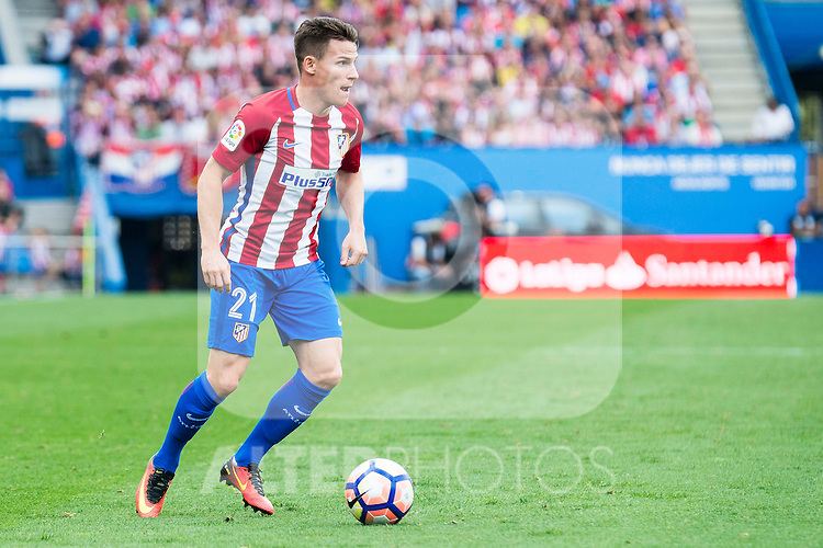 Atletico de Madrid's player Kevin Gameiro during a match of La Liga Santander at Vicente Calderon Stadium in Madrid. September 25, Spain. 2016. (ALTERPHOTOS/BorjaB.Hojas)