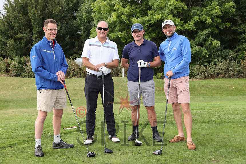 Pictured from left are the GT Signs Golf Society team: Andy Disney, Pete Roberts, Russell Kilner and Simon Dakin