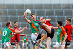 Colin McGillycuddy Mid Kerry claims the loose ball against Kenmare during their SFC quarter final in Fitzgerald Stadium on Sunday