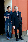 Phoenix Cinema hosts.Friday Film review on Radio 5 LIve.with Mark Kermode and Simon Mayo..Waiting outside before the show drinking Diet Coke....Picture by Gavin Rodgers/ Pixel 07917221968