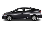 Car Driver side profile view of a 2019 Toyota Prius LE 5 Door Hatchback Side View