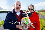Sammy the dog taking Gordan and Diane Keane for a walk in Blennerville on Sunday.