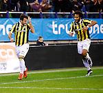 Nederland, Arnhem, 18 december 2015<br /> Eredivisie<br /> Seizoen 2015-2016<br /> Vitesse-FC Twente<br /> Valeri Qazaishvili van Vitesse is blij dat hij met zij hoofd heeft gescoord
