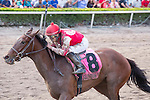 March 28, 2015: Birdatthewire with jockey Irad Ortiz Jr wins the Gulfstream Park Oaks (G2) at Gulfstream Park, Hallandale Beach (FL). Arron Haggart/ESW/CSM