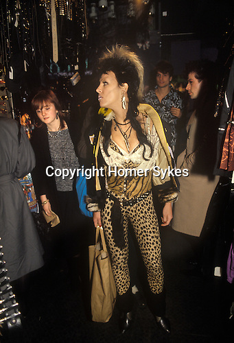 Boy boutique in the Kings Road Chelsea London 1980s fashion. UK