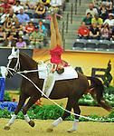 7 October 2010: Anita Esztergomi (HUN) competes during Vaulting in the World Equestrian Games in Lexington, Kentucky