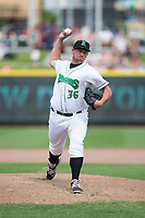 Dayton Dragons relief pitcher Joel Kuhnel (36) in action against the West Michigan Whitecaps at Fifth Third Field on May 29, 2017 in Dayton, Ohio.  The Dragons defeated the Whitecaps 4-2.  (Brian Westerholt/Four Seam Images)