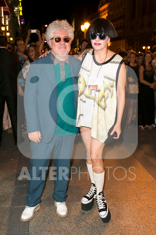 Pedro Almodovar and Pecha Charro attends the party of Nike and Roberto Tisci at the Casino in Madrid, Spain. September 15, 2014. (ALTERPHOTOS/Carlos Dafonte)