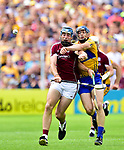 Conor Cooney of Galway in action against David Mc Inerney of Clare during their All-Ireland semi-final replay at Semple Stadium,Thurles. Photograph by John Kelly.