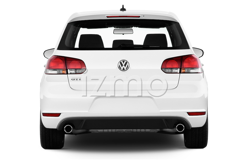 Straight rear view of a 2013 Volkswagen GTI 4 Door hatchback2013 Volkswagen GTI 4 Door hatchback