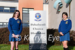 Pobalscoil Chorca Dhuibhne Transition Year students Molly Ní Shé and Faye Greely, Dingle, who are raising funds for a rescue centre for girls in Kenya.
