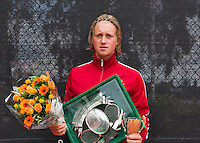 10-08-13, Netherlands, Rotterdam,  TV Victoria, Tennis, NJK 2013, National Junior Tennis Championships 2013,  Prize giving, Jelle Sels<br /> <br /> Photo: Henk Koster