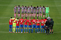 One minute silence during Dagenham & Redbridge vs Wealdstone, Vanarama National League Football at the Chigwell Construction Stadium on 10th October 2020