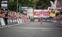 Kenneth Vanbilsen (BEL/Cofidis) winning Dwars door het Hageland 2019 (1.1)<br /> <br /> 1 day race from Aarschot to Diest (BEL/204km)<br /> <br /> ©kramon