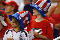 7 June 2011: Young USA fans in the stands during the CONCACAF soccer match between USA MNT and Canada MNT at Ford Field Detroit, Michigan. USA won 2-0.