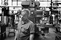 Russia. Krasnodar Krai Region. Krasnodar. Sedan factory. Workers and machine-tool production. JSC ''KZTS'' is the legal successor of the Sedin plant, company with more than a hundred years history. The plant has highly qualified, skilled engineering personnel. The task is to advance innovations in the field of machine-tool building, to perform searching, testing, scientific and engineering works. Krasnodar (also known as Kuban) is the largest city and the administrative centre of Krasnodar Krai in Southern Russia. 30.09.1993 © 1993 Didier Ruef