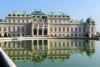 Oberes Belvedere im barocker Sommerresidenz Belvedere, Wien, Österreich, UNESCO-Weltkulturerbe<br /> Upper Belvedere in Baroque summer residence Belvedere, Vienna, Austria, world heritage