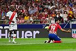 Atletico de Madrid's Diego Costa and Rayo Vallecano's Luis Advincula during La Liga match. August 25, 2018. (ALTERPHOTOS/A. Perez Meca)