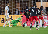 WASHINGTON, DC - MAY 13: Bobby Shuttleworth #1 of Chicago Fire FC makes a save during a game between Chicago Fire FC and D.C. United at Audi FIeld on May 13, 2021 in Washington, DC.