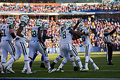 New York Jets running back Trenton Cannon (40) celebrates with teammates after scoring a touchdown during an NFL football game against the Buffalo Bills, Sunday, December 9, 2018, in Orchard Park, N.Y.  (Mike Janes Photography)
