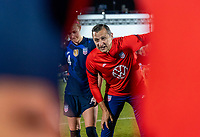 FRISCO, TX - MARCH 11: Vlatko Andonovski of the United States talks to the team during a game between Japan and USWNT at Toyota Stadium on March 11, 2020 in Frisco, Texas.