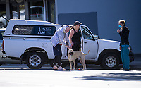 Rappaw Veterinarian Care with customers. Tawa town centre at midday, Wednesday, during lockdown for the COVID19 pandemic in Wellington, New Zealand on Wednesday, 15 April 2020. Photo: Dave Lintott / lintottphoto.co.nz