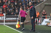 Swansea City manager Paul Clement during the Premier League match between Swansea City and Leicester City at The Liberty Stadium, Swansea, Wales, UK. Saturday 21 October 2017