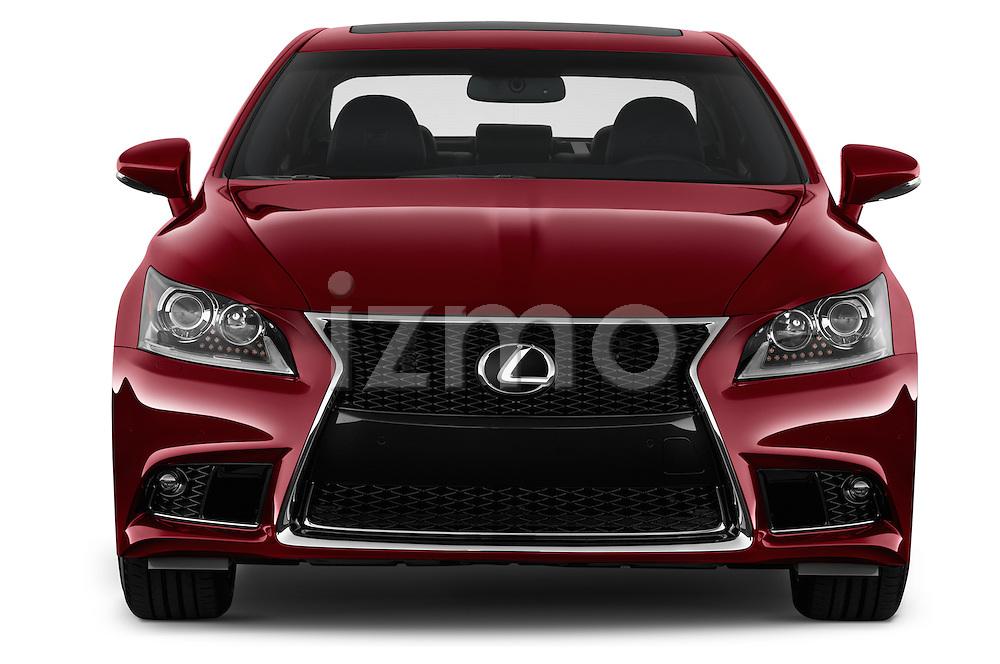 Car photography straight front view of a 2017 Lexus LS 460-Sport 4 Door Sedan Front View