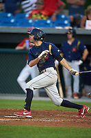 State College Spikes second baseman Josh Swirchak (26) at bat during a game against the Auburn Doubledays on July 6, 2015 at Falcon Park in Auburn, New York.  State College defeated Auburn 9-7.  (Mike Janes/Four Seam Images)