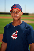 Cleveland Indians minor league catcher Francisco Mejia #16 poses for a photo before an instructional league game against the Cincinnati Reds at the Goodyear Training Complex on October 8, 2012 in Goodyear, Arizona.  (Mike Janes/Four Seam Images)