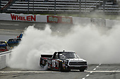 NASCAR Camping World Truck Series <br /> Texas Roadhouse 200<br /> Martinsville Speedway, Martinsville VA USA<br /> Saturday 28 October 2017<br /> Noah Gragson, Switch Toyota Tundra celebrates the win with a burn out<br /> World Copyright: Scott R LePage<br /> LAT Images<br /> ref: Digital Image lepage-171028-mart-4330
