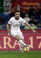 Calcio, Serie A: AS Roma - AC Milan, Roma, stadio Olimpico, 25 febbraio, 2018.<br /> Milan's Giacomo Bonaventura in action during the Italian Serie A football match between AS Roma and AC Milan at Rome's Olympic stadium, February 28, 2018.<br /> UPDATE IMAGES PRESS/Isabella Bonotto