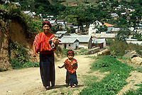 Guatemalan Mayan Indian mother and child