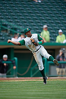 Fort Wayne TinCaps third baseman Eguy Rosario (1) throws to first base during a game against the Wisconsin Timber Rattlers on May 10, 2017 at Parkview Field in Fort Wayne, Indiana.  Fort Wayne defeated Wisconsin 3-2.  (Mike Janes/Four Seam Images)