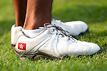 SHENZHEN, CHINA - OCTOBER 29: Terrance Ng of Hong Kong wearing a shoes decorated with the Hong Kong flag during the day one of Asian Amateur Championship at the Mission Hills Golf Club on October 29, 2009 in Shenzhen, Guangdong, China.  (Photo by Victor Fraile/The Power of Sport Images) *** Local Caption *** Terrance Ng