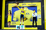 Mathieu Van Der Poel (NED) Alpecin-Fenix wins Stage 2 and takes over the race leaders Yellow Jersey of the 2021 Tour de France, running 183.5km from Perros-Guirec to Mur-de-Bretagne Guerledan, France. 27th June 2021.  <br /> Picture: A.S.O./Charly Lopez   Cyclefile<br /> <br /> All photos usage must carry mandatory copyright credit (© Cyclefile   A.S.O./Charly Lopez)