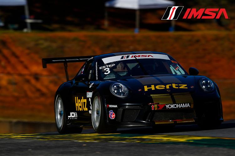 IMSA Porsche GT3 Cup Challenge USA<br /> Road Atlanta<br /> Road Atlanta, Braselton GA<br /> Wednesday 4 October 2017<br /> 3, Trenton Estep, GT3P, USA, 2017 Porsche 991<br /> World Copyright: Jake Galstad<br /> LAT Images