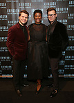 Kevin David Thomas, Deidre Goodwin and Chad Austin attend the Abingdon Theatre Company Gala honoring Donna Murphy on October 22, 2018 at the Edison Ballroom in New York City.