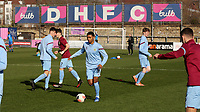 Ne-Jai Tucker of Burnley U23's warms up ahead of kick-off during Crystal Palace Under-23 vs Burnley Under-23, Premier League Cup Football at Champion Hill Stadium on 6th February 2020