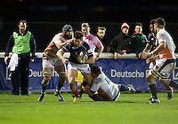 Oli Grove of London Scottish Football Club during the Greene King IPA Championship match between London Scottish Football Club and Ealing Trailfinders at Richmond Athletic Ground, Richmond, United Kingdom on 26 December 2015. Photo by Alan  Stanford / PRiME Media Images
