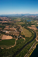 Aerial photograph Rochioli Vineyards Healdsburg Russian River Sonoma Coast Pinot Noir vineyards